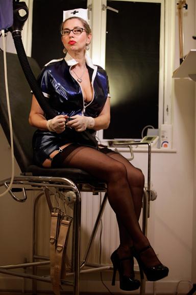 Strict-nurse-enema-medical-mistress